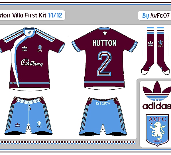 Aston Villa First & Change Kits