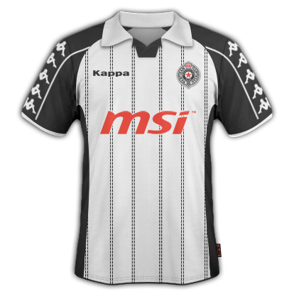 Partizan Belgrade 2010/11 Away Kit