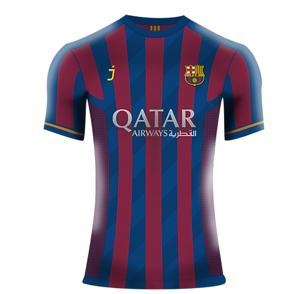 Barcelona Home Shirt by J-sports