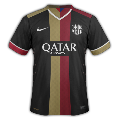 Barcelona Third kit for 2015/16 with Nike