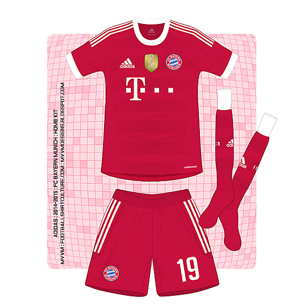 Adidas : Bayern Munich : Home Shirt