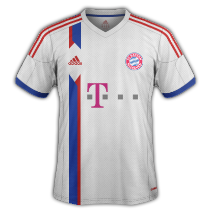 Bayern Munich Away kit 2015/16 with Adidas