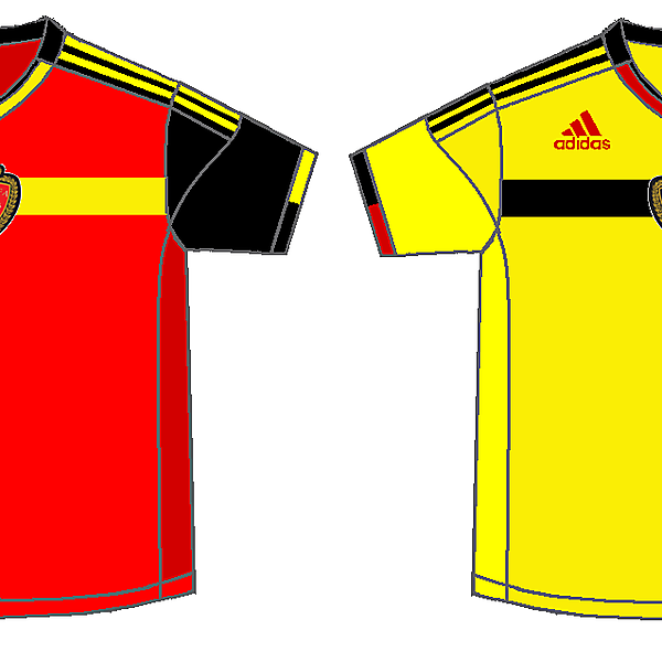 Belgium Home and Away kits