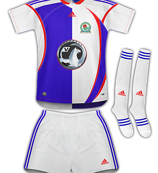 Blackburn Rovers Home Kit 09/11