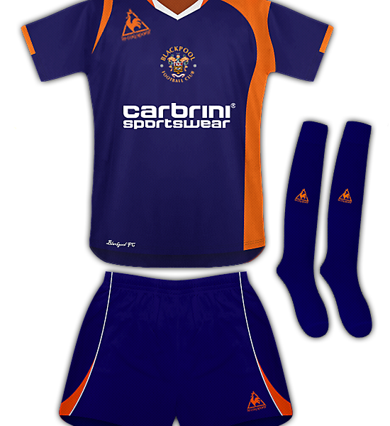Blackpool Away Kit 09/10