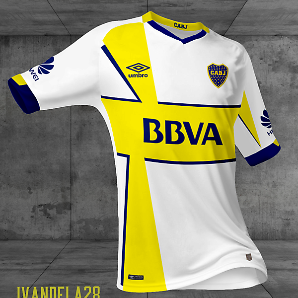 Boca Jrs Away Kit Umbro