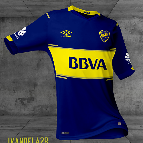 Boca Jrs Home Kit Umbro