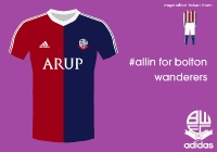 Bolton Wanderers 14/15 away kit by adidas