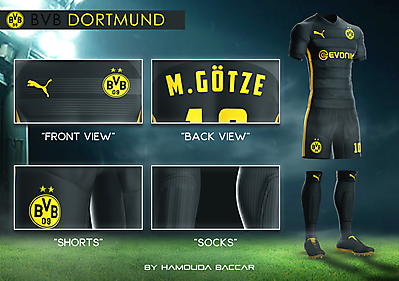 BORUSSIA DORTMUND Football Concept Kit 2018/2019