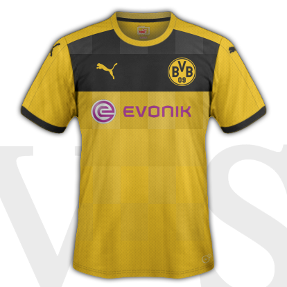 Borussia Dortmund Home Kit 2015/16 season with Puma