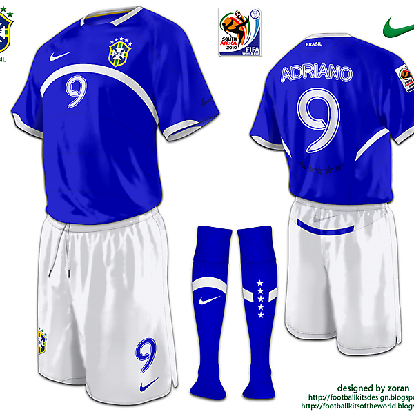 Brazil World Cup 2010 fantasy away