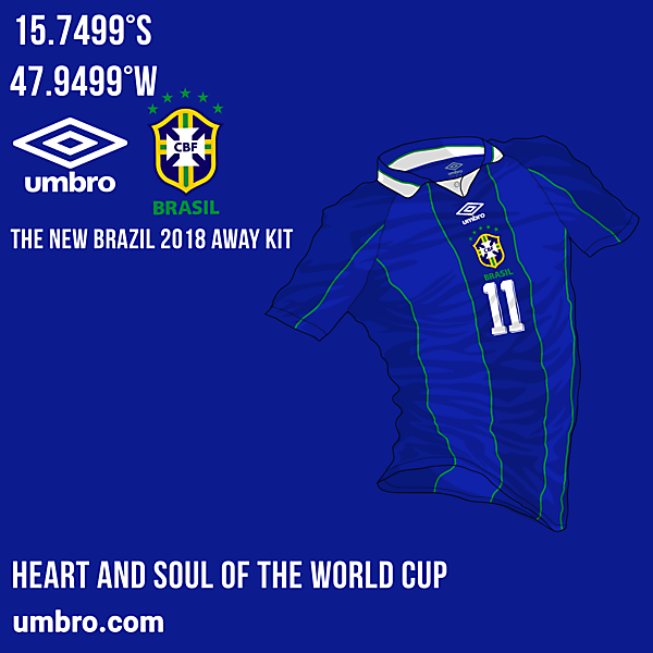 Brazil Away Kit - #WORLDCUPXUMBRO