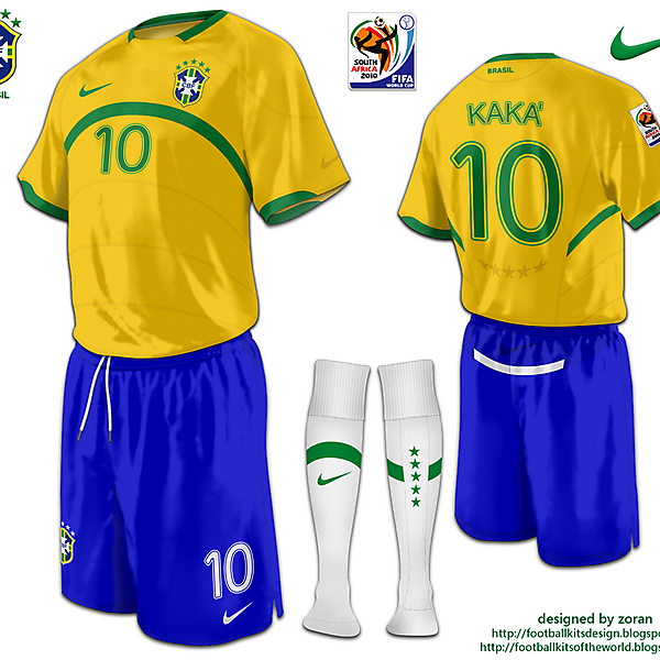 Brazil World Cup 2010 fantasy home