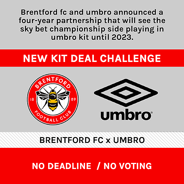 Brentford FC x Umbro KIt Design Challenge