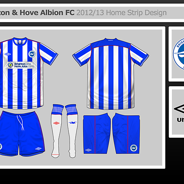 Brighton Home Shirt Design