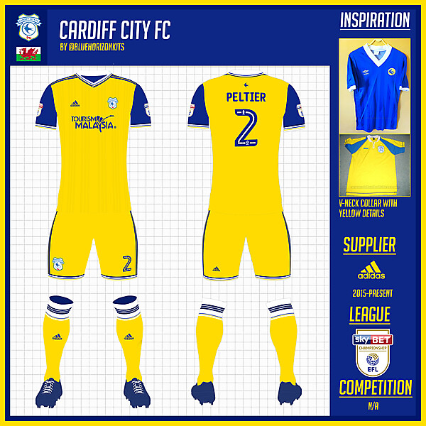 Cardiff City Away Kit
