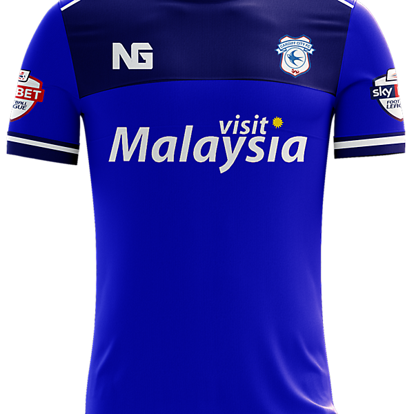 Cardiff City Home Jersey Concept.