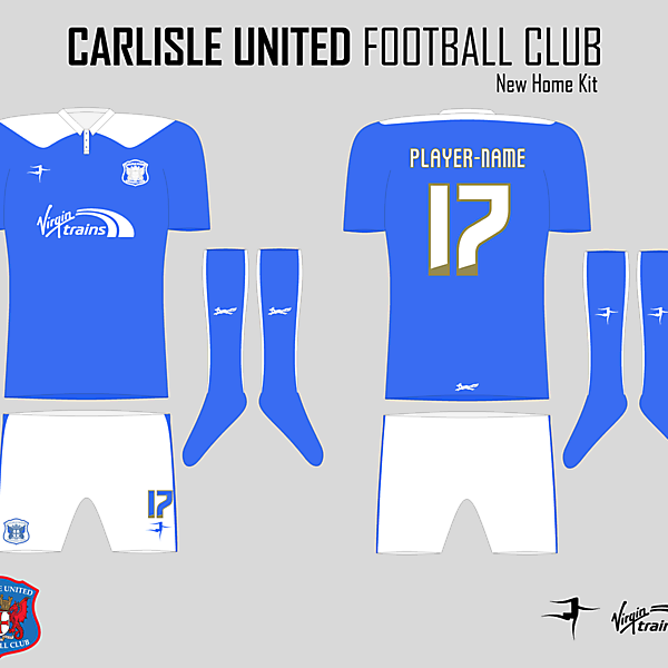 Carlisle United Stripped Back Home Kit
