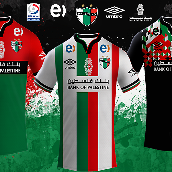 CD Palestino Umbro Kits