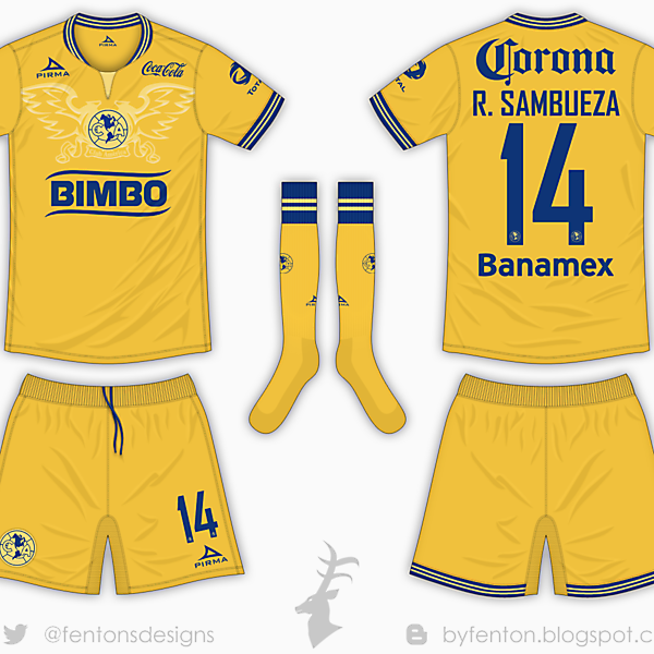 Club America Home Kit - Pirma [Azure League Matchday 1]
