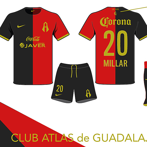Club Atlas Home Kit- Azure League Matchday 1