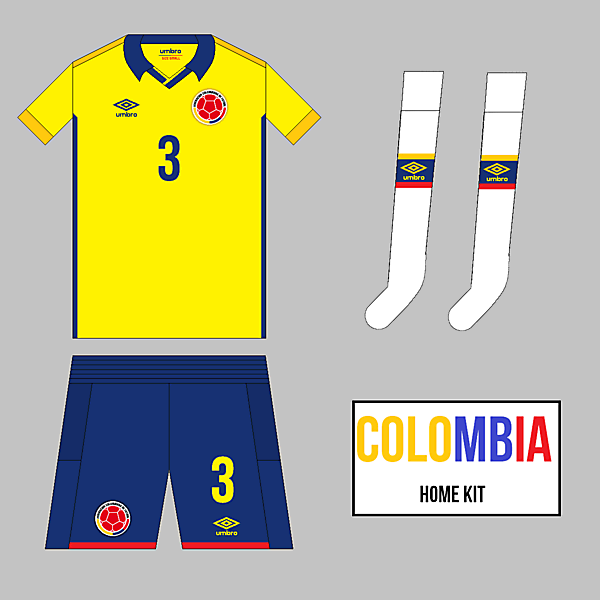 Colombia Home kit - Umbro