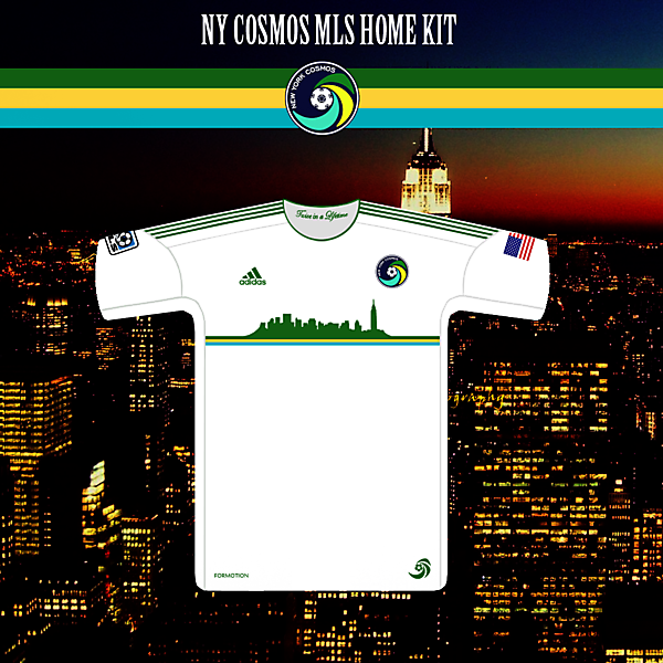 NY Cosmos MLS Home Kit