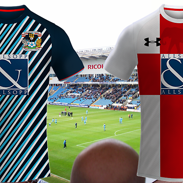 Coventry City Fc / Under Amour Model Away, Third Kit 2017