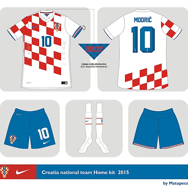 Croatia National Team home kit 2015
