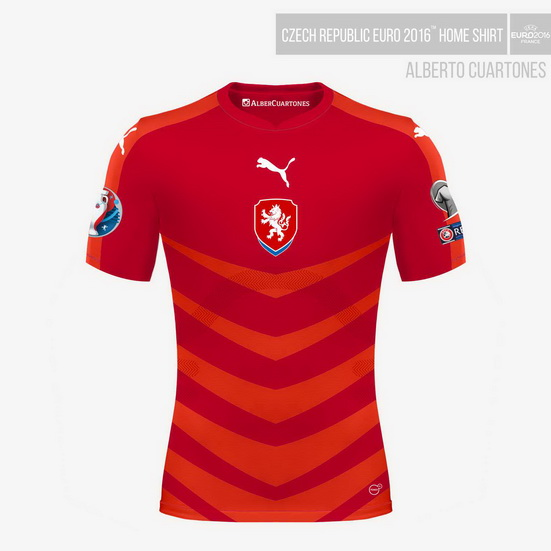 Czech Republic UEFA EURO 2016™ Home Shirt