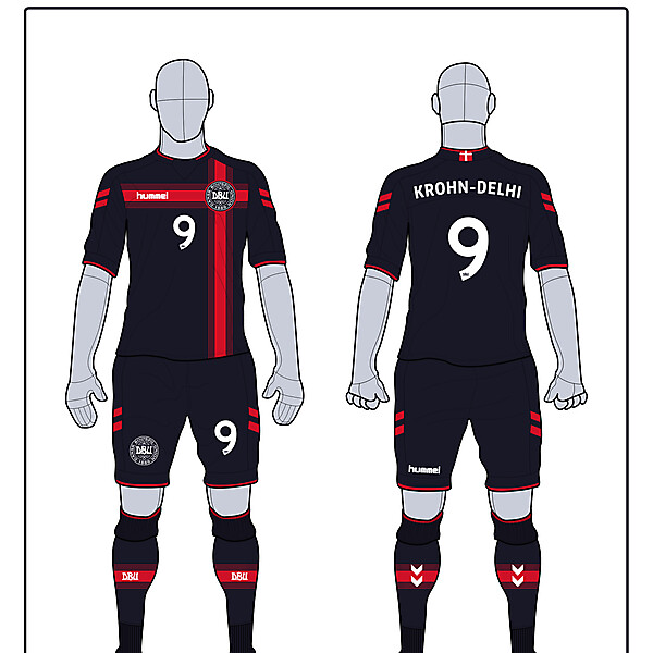 Denmark Away Kit (Not for Comp)