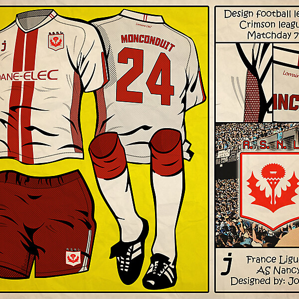 Design Football League - Crimson League - MD7 - AS Nancy by J-sports