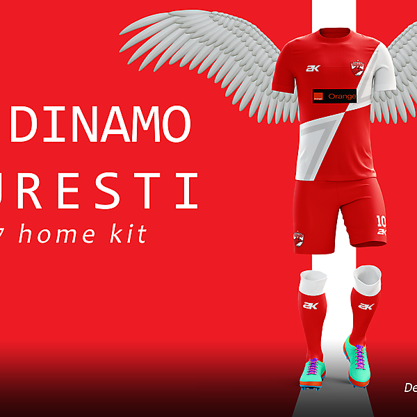 Dinamo Bucharest - Home kit// Romanian Derby + Youtube video