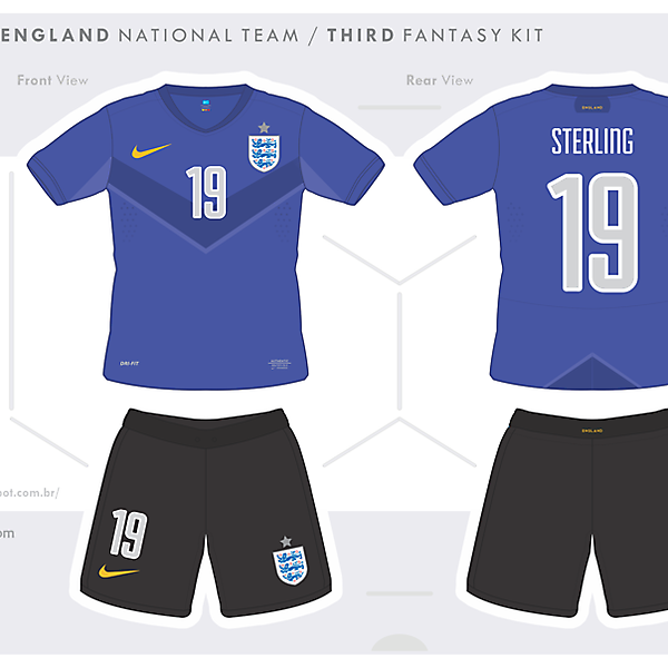 England - Fantasy Kit Third