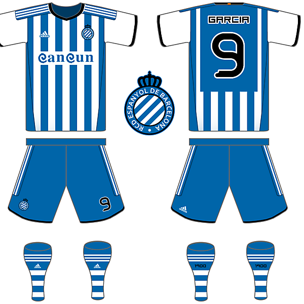 Espanyol Adidas Home and Crest change