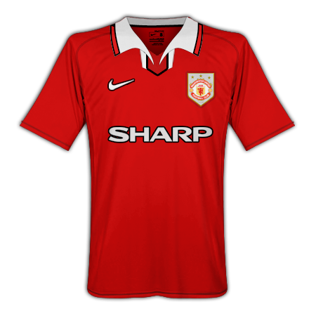 Manchester United 90s European Home