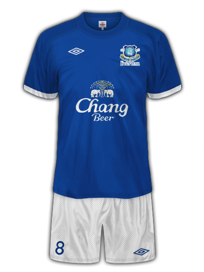 Everton Umbro Home Kit