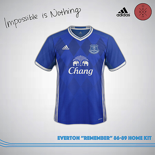 "Everton ""Remember"" 86-89 Home Kit"