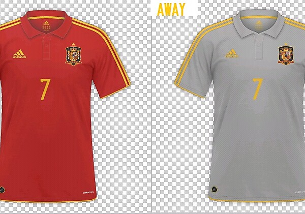 Fantasy UEFA Euro 2016 Spain kits