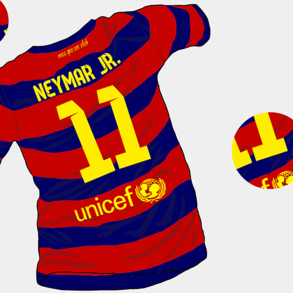 FC Barcelona 15-16 Home Shirt (Back)
