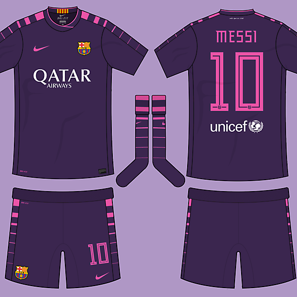 FC Barcelona 2016-17 Away Kit