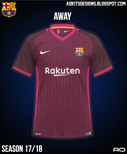 FC Barcelona Away Kit Season 17/18