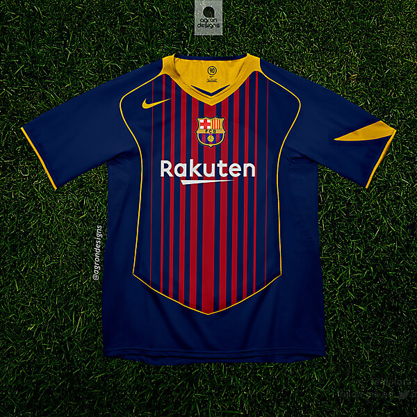 FC BARCELONA HOME KIT 2017-18 (T90 TEMPLATE)