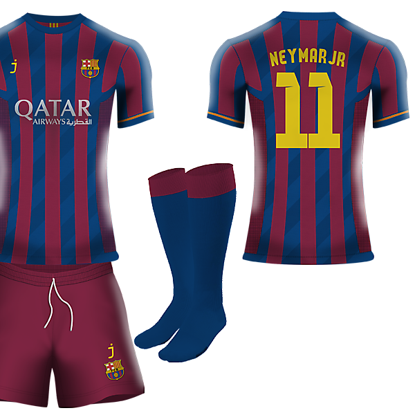FC Barcelona home kit by J-sports