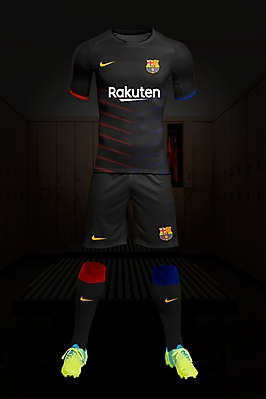 Fc Barcelone kit Away
