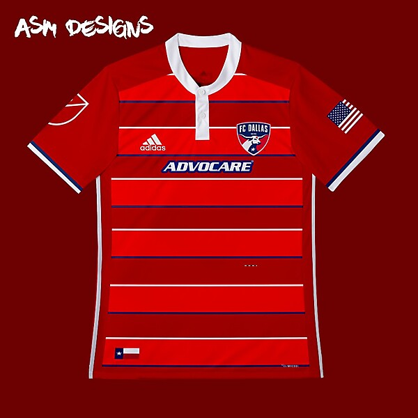 FC Dallas Adidas 2018 Home Kit