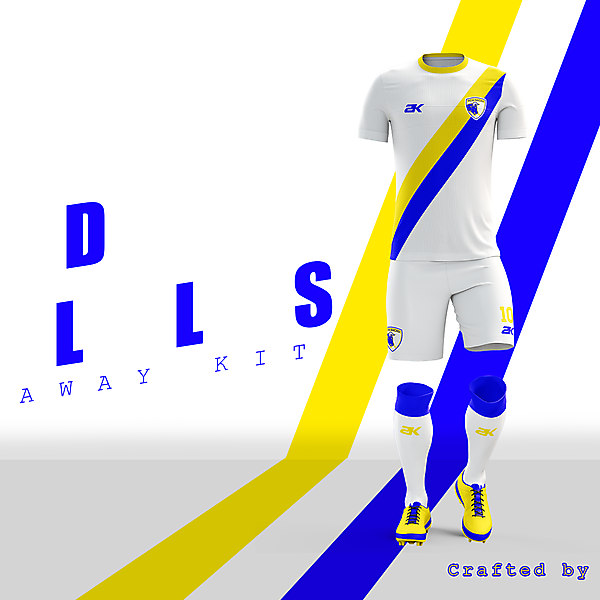 FCM Bacau - Away kit// Crafted logo