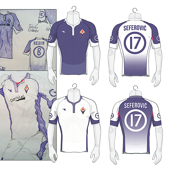 Fiorentina 2004 Sketchbook design