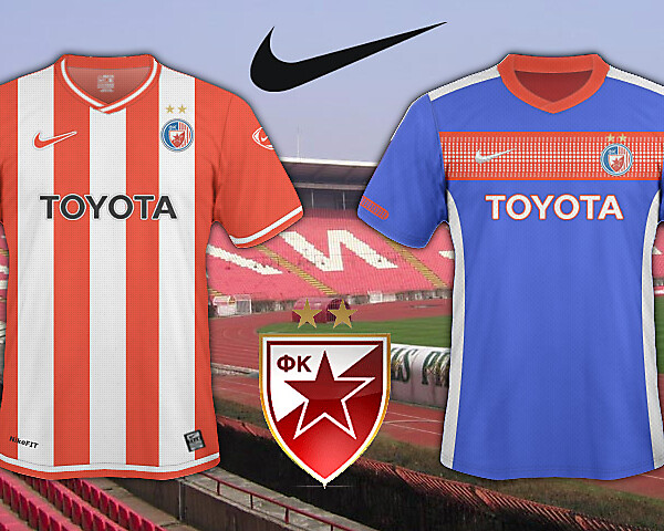 Crvena Zvezda 2010/11 Home And Away Shirt