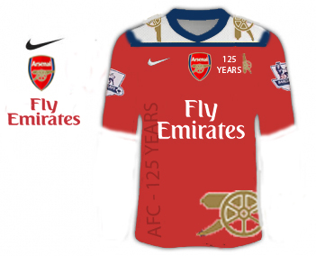Arsenal 2010/11 Fictional 125th aniversary design